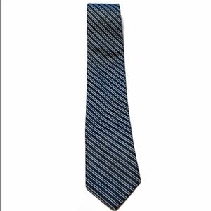 Tommy Hilfiger 100% Silk Blue Striped Tie